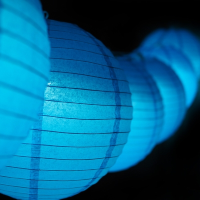 moonbright 12 turquoise paper lantern remote controlled. Black Bedroom Furniture Sets. Home Design Ideas