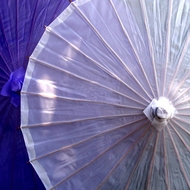 Premium Nylon Parasol Umbrellas - Solid Colors