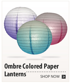 Ombre Colored Paper Lanterns