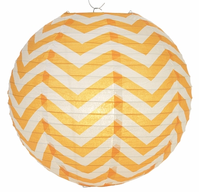 Orange Chevron Paper Lantern