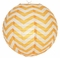 "14"" Orange Chevron Paper Lantern, Even Ribbing, Hanging (Light Not Included)"
