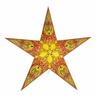 """BLOWOUT 24"""" Orange Galaxy Paper Star Lantern, Hanging (Light Not Included)"""