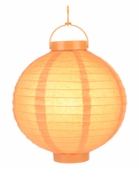 Orange LED Round Paper Battery Lantern