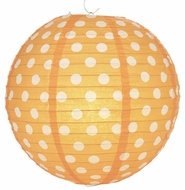 Orange Polka Dot Paper Lantern