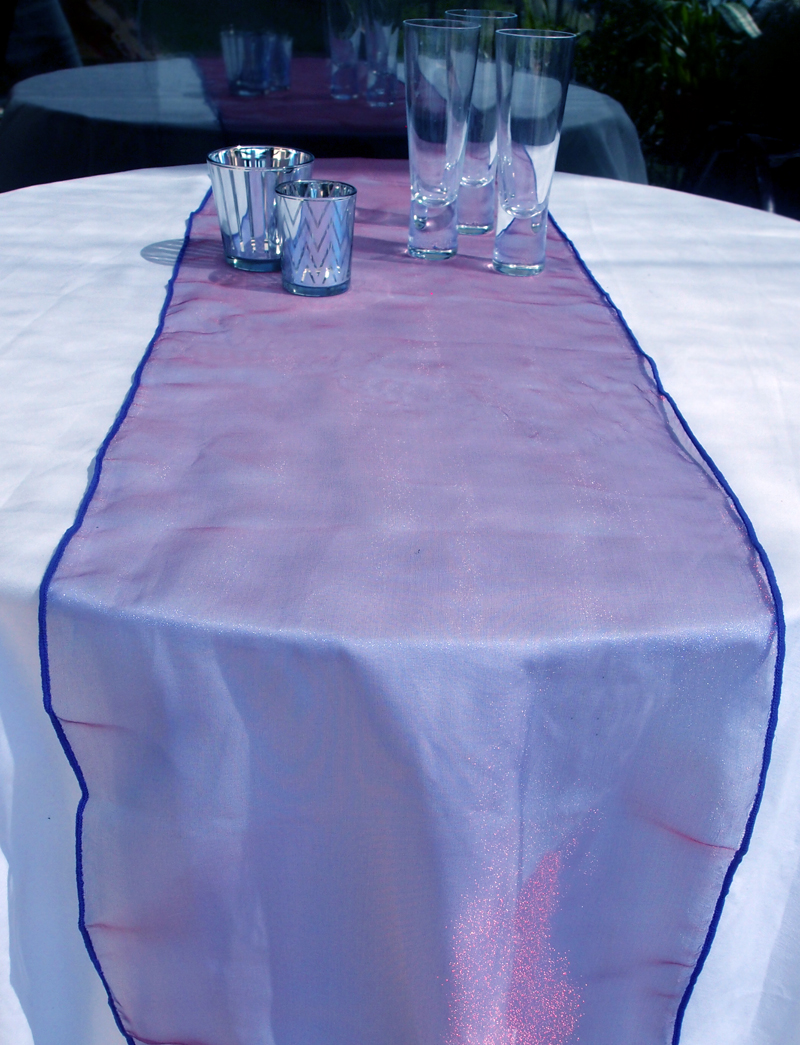 Organza Table Runner Dark Purple