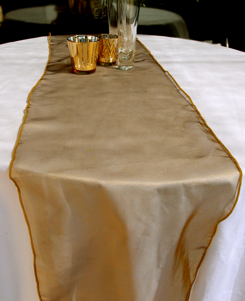 Organza Table Runner Gold