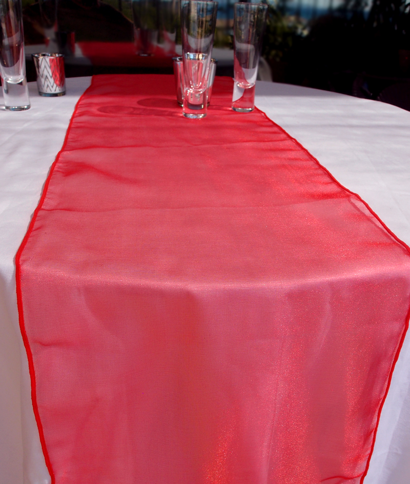 Organza Table Runners Organza Table Runner Red