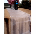 Organza Table Runner - White
