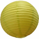 Pear Round Even Ribbing Paper Lanterns