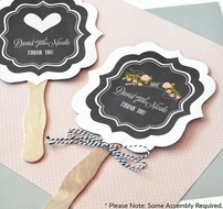 Personalized Chalkboard Wedding Paddle Hand Fans