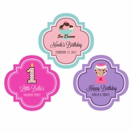 "Personalized Kid's Birthday 1.5"" Mini Favor Labels Stickers"