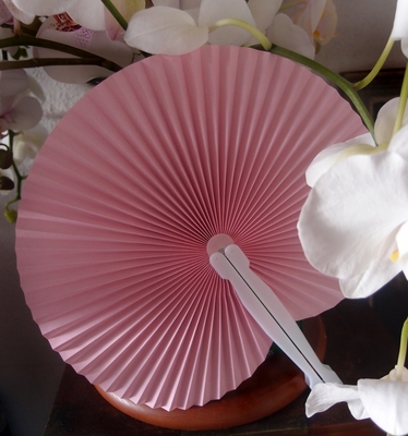 9 Quot Pink Chinese Folding Accordion Paper Hand Fan For