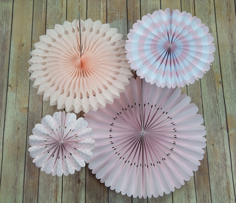 Pink Rosette Paper Flower Backdrop Party Wall Decoration Combo Kit On Sale Now