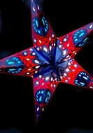 """24"""" Purple Galaxy Paper Star Lantern, Hanging (Light Not Included)"""