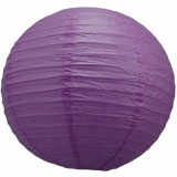 Royal Purple Round Even Ribbing Paper Lanterns
