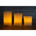 Realistic Wax Drip Flameless LED Candle Light w/ Remote, Timer (3 Pack, Warm White)
