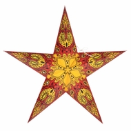 """24"""" Red Galaxy Paper Star Lantern, Hanging (Light Not Included)"""
