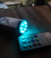 8 LED Color Changing Battery Powered Light for Lanterns (Remote Control Sold Separately)