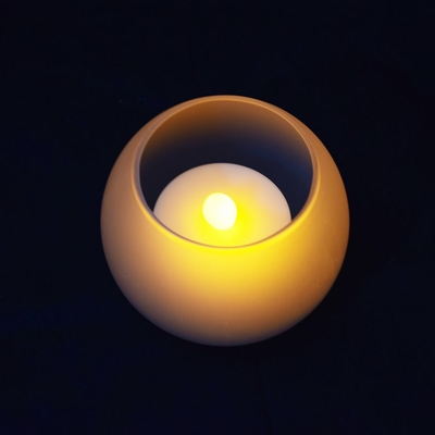 Blowout Round Tea Light Flameless Led Candle In Frosted