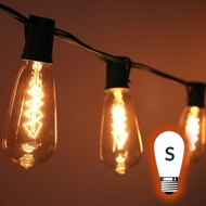 S Style Sign Bulb String Lights - S14, ST40
