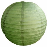 Sea Green Round Even Ribbing Paper Lanterns