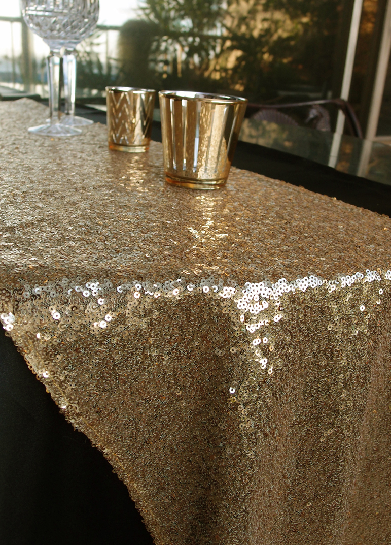 Sequin Table Runner Gold 12 X 108