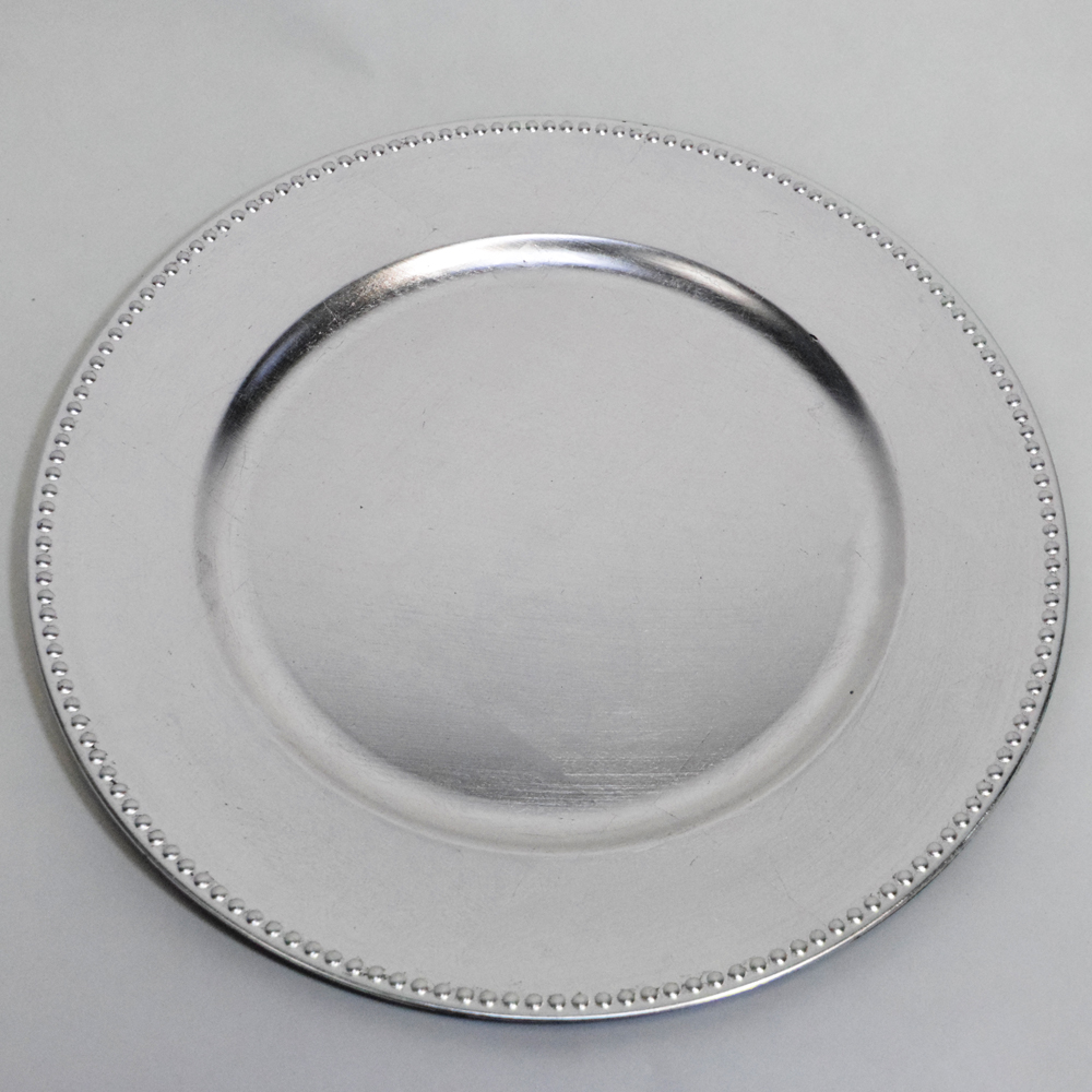silver beaded charger plate 13 inch on sale from