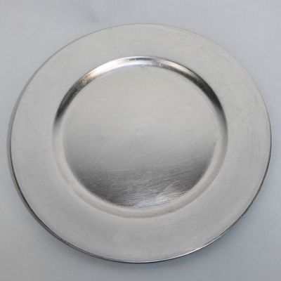 Silver Heavy Duty Charger Plate 13 Inch 13 Inch On