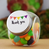 Small DIY Candy Favor Glass Jars (6 PACK)