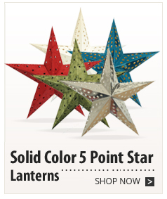 Solid Color 5 Point Star Lanterns