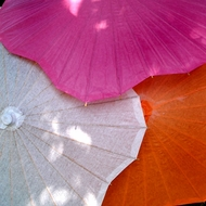 Solid Color Scalloped Shaped Parasols Umbrellas