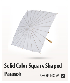 Solid Color Square Shaped Parasols