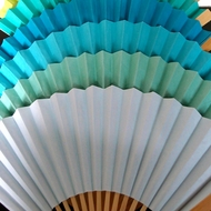 Solid Colored Folding Hand Fans