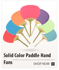 Solid Colored Paddle Hand Fans