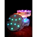 Submersible LED 13-Color Waterproof Floral Vase Lights w/ Remote Controls (RGB) (4 Pack)