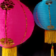 Traditional Chinese Paper Lanterns w/ Tassels