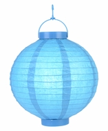 Turqouise LED Round Paper Battery Lantern