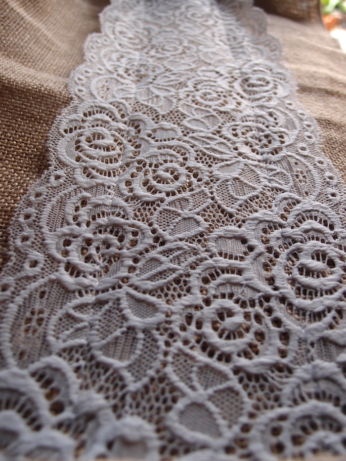 Vintage Burlap And Lace Style No 1 Wedding Table Runner