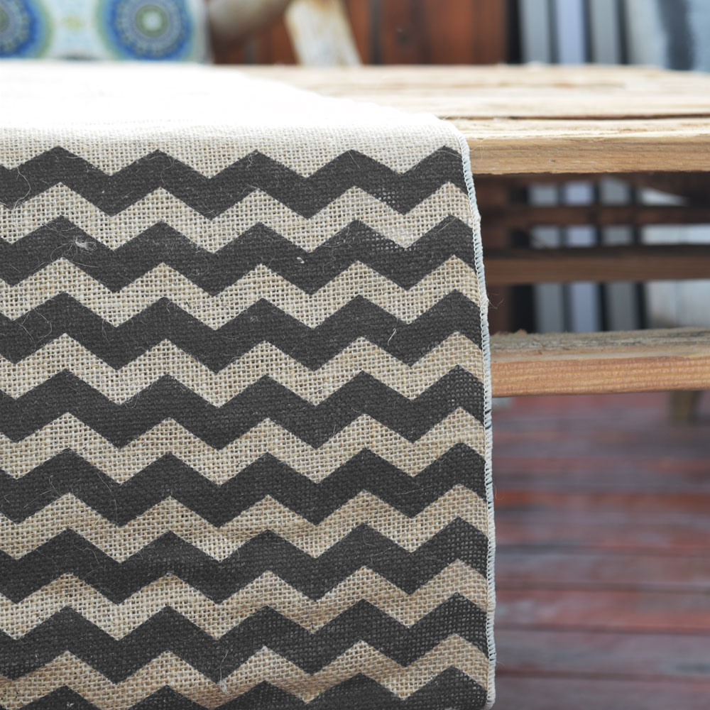 Pattern wedding vintage w/ Runner  table 108 x (12 Burlap Vintage  Chevron  runner Wedding Table Black