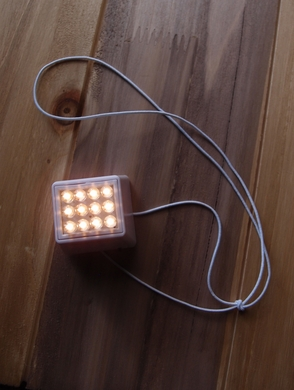 12 LED Super Bright Cube Light For Lanterns, Warm White (Battery Powered)