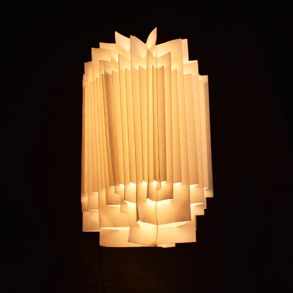 White Cylinder Geometrical Shaped Folding Paper Lantern