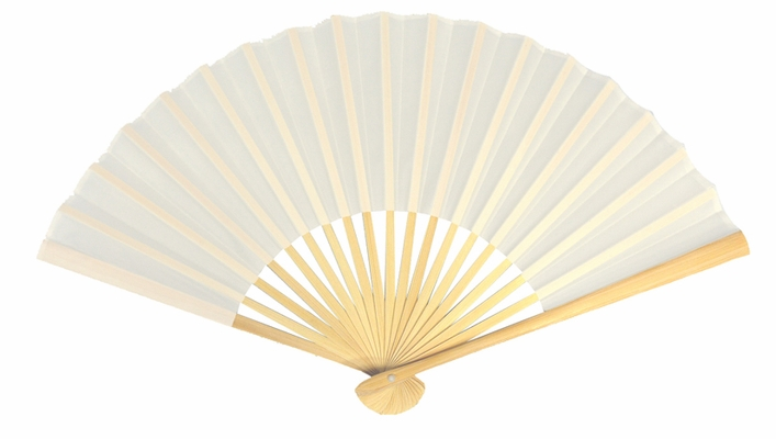 9 Quot White Silk Hand Fans For Weddings 10 Pack