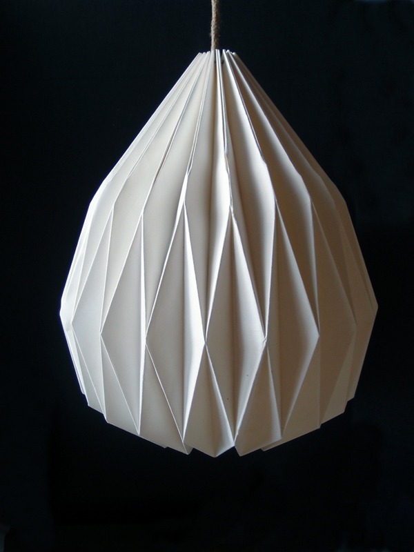 White Teardrop Paper Shade