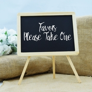 Wooden Chalkboard Easel Stand Table Sign - 9.37 x7.87 inch
