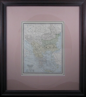 "1888 Map of Turkey, Greece, Romania, Serbia, and Montenegro by Cram (19 x 21 1/2"" Framed)"
