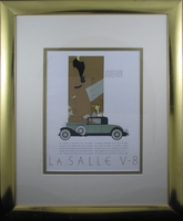 "1930s Vintage Ad for LaSalle Motors (18 1/2 22 1/2"" Framed)"