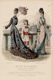 Paris Fashions - 1877 Antique Lithographed Print - $119