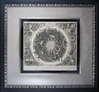 "Reproduction of a 1665 Map of the World by Athanasius Kircher (21 x 23"" Framed)"