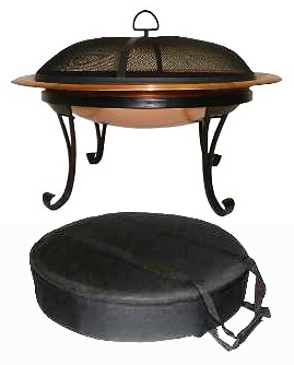 Asia Direct AD248 Portable Copper Outdoor Fire Pit