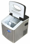 NewAir Large Portable Ice Maker Stainless/Black AI-215SS